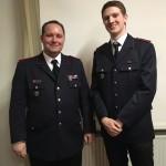 Benjamin Plessner wird in die aktive Wehr aufgenommen und zum Feuerwehrmann befördert
