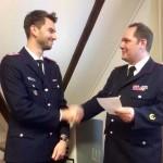 Selke gratuliert Willner (li.) und freut sich auf gute Zusammenarbeit